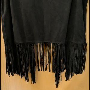 Decree Jackets & Coats - Decree Fringe Faux leather open front vest size XL